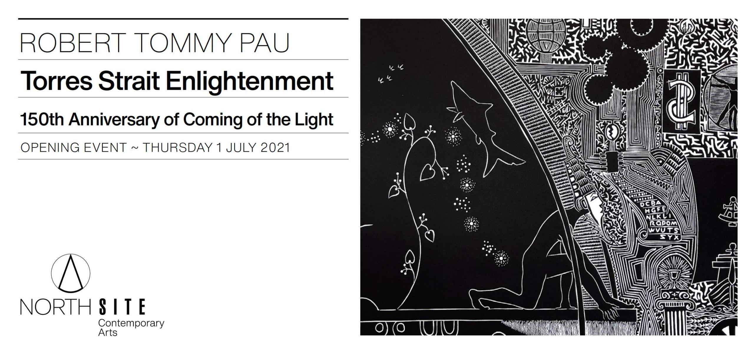 Robert Tommy Pau exhibition invitation